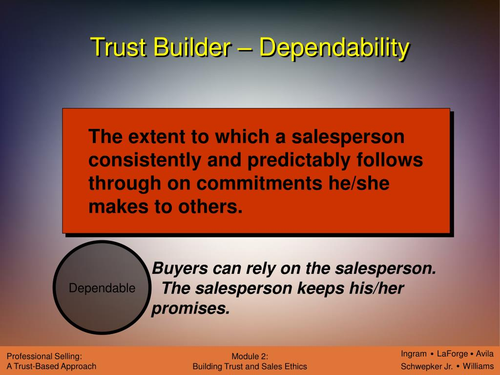 customer trust in salesperson Under these circumstances which of the following practices by a salesperson is from marketing 391 at arizona state university.