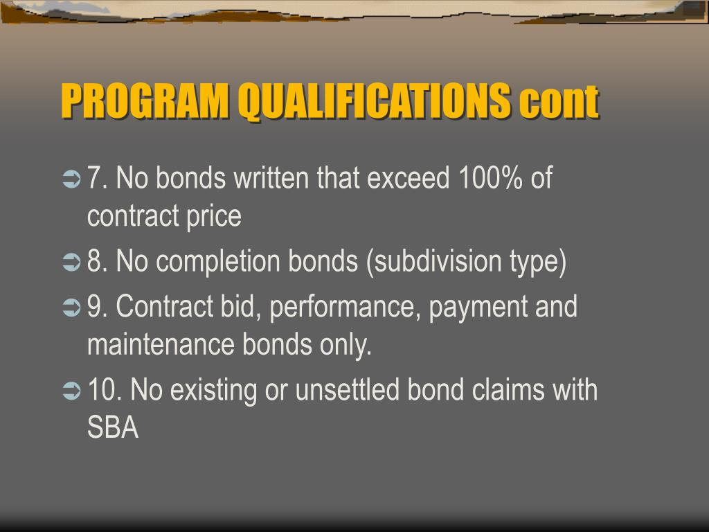 PROGRAM QUALIFICATIONS cont