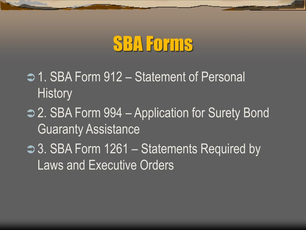 SBA Forms