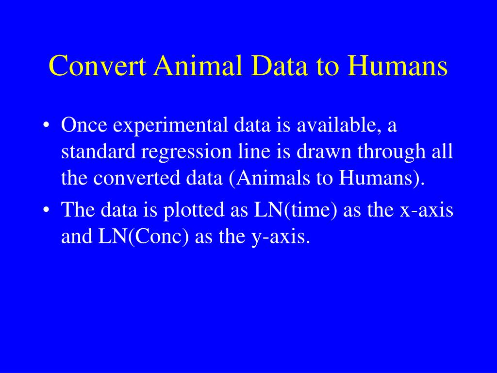 Convert Animal Data to Humans