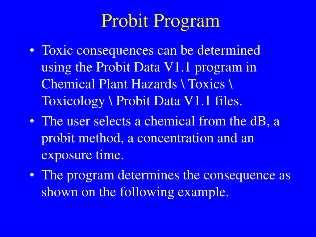 Probit Program