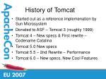 history of tomcat