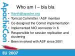 who am i bla bla