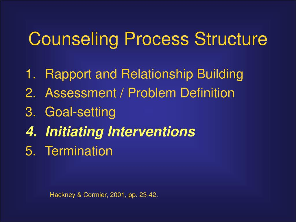 rapport and relationship building in counseling
