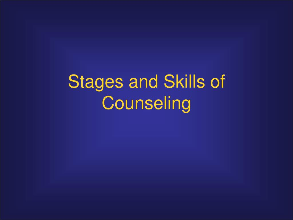 relationship building in counseling process Coun 634: practicum in counseling handbook practicum, it is helpful to remember that the counseling process always involves the following steps • relationship-building stage (developing trust/rapport and building a therapeutic alliance.