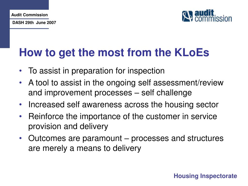 How to get the most from the KLoEs