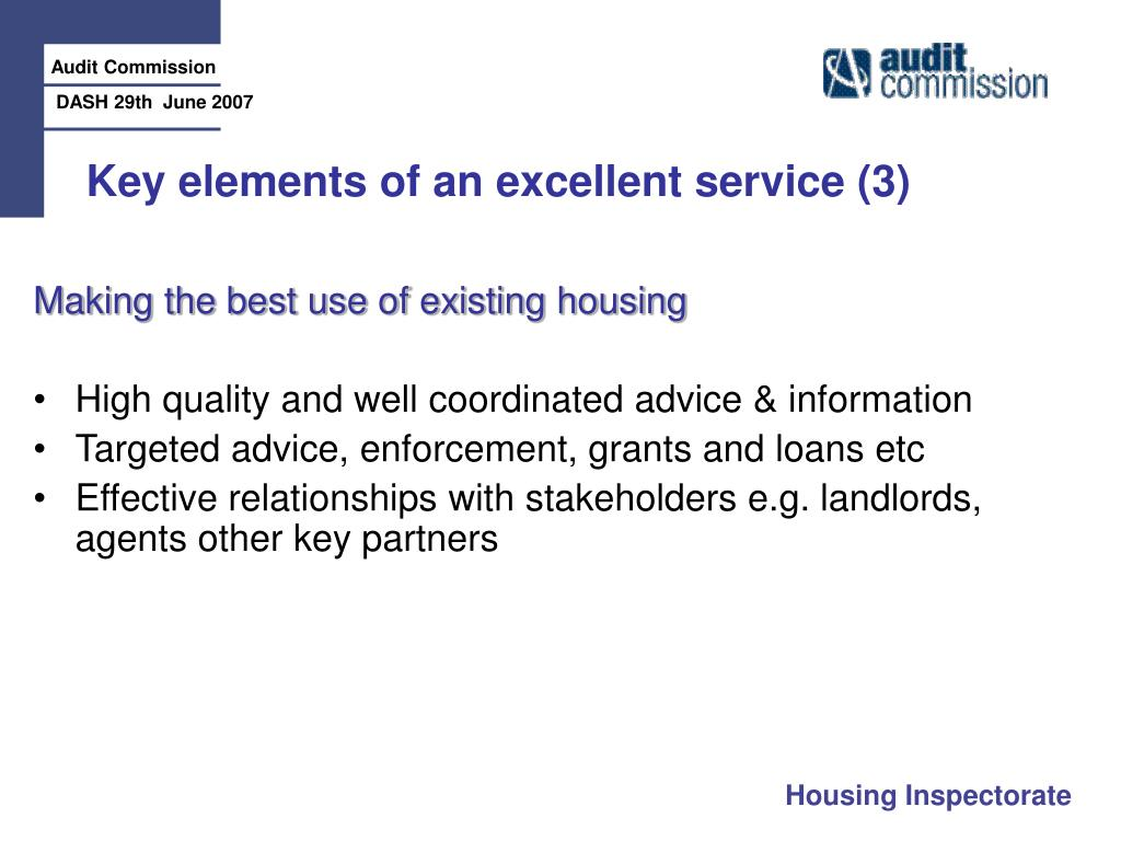 Key elements of an excellent service (3)