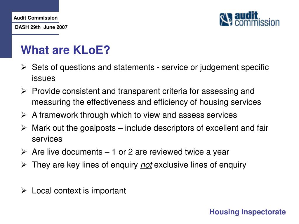 What are KLoE?