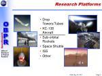 research platforms