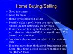 home buying selling