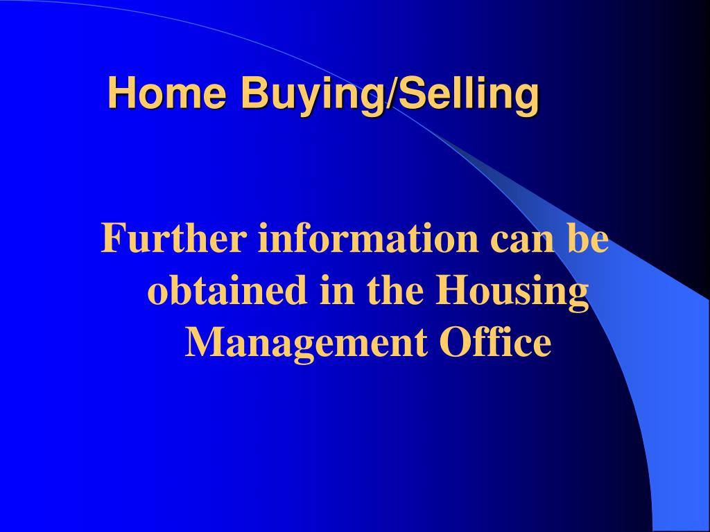 Home Buying/Selling
