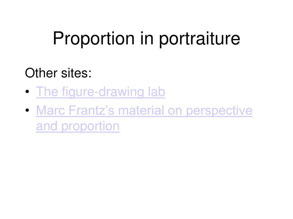 Proportion in portraiture