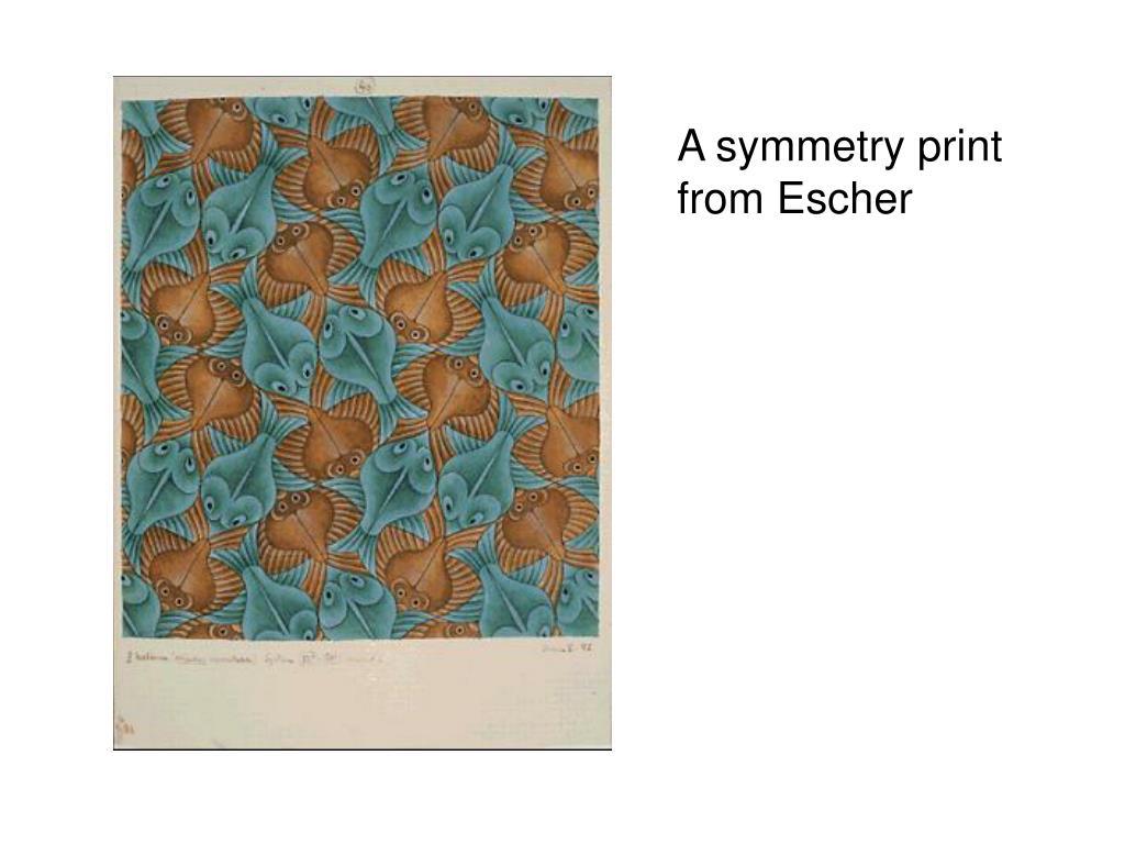 A symmetry print from Escher