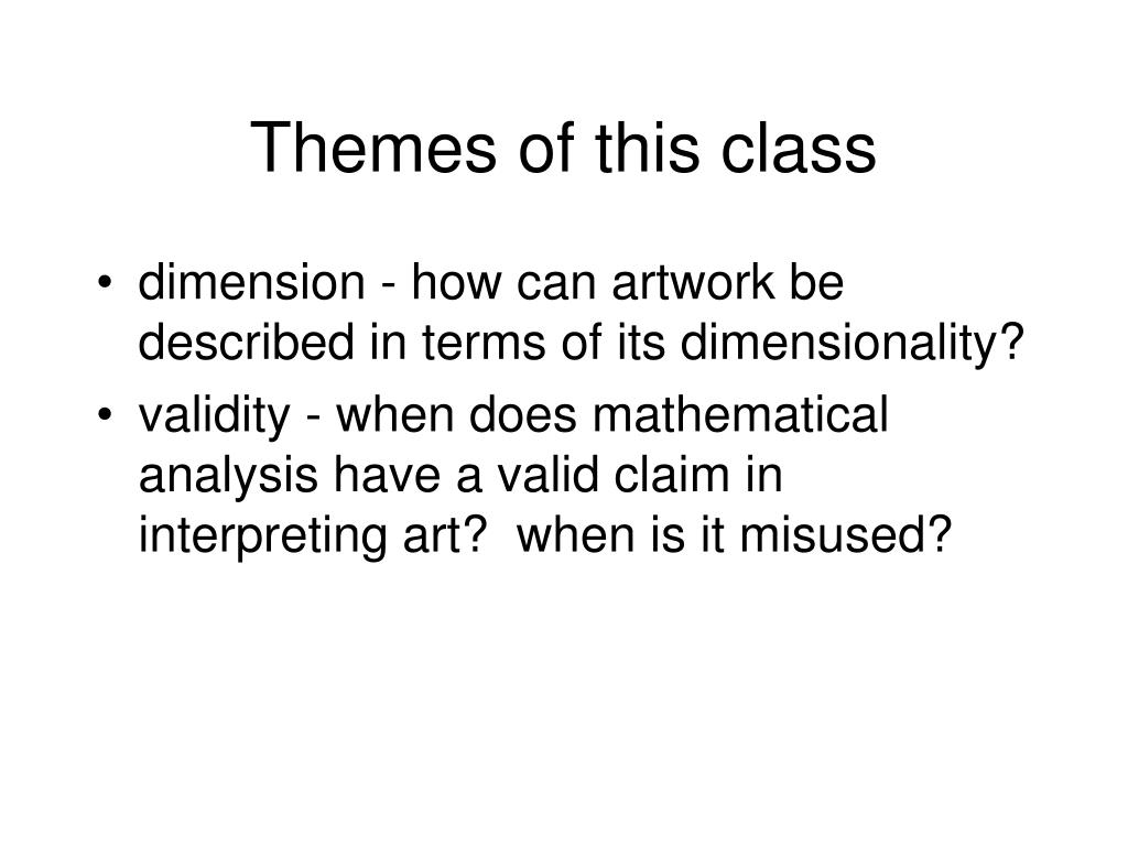 Themes of this class