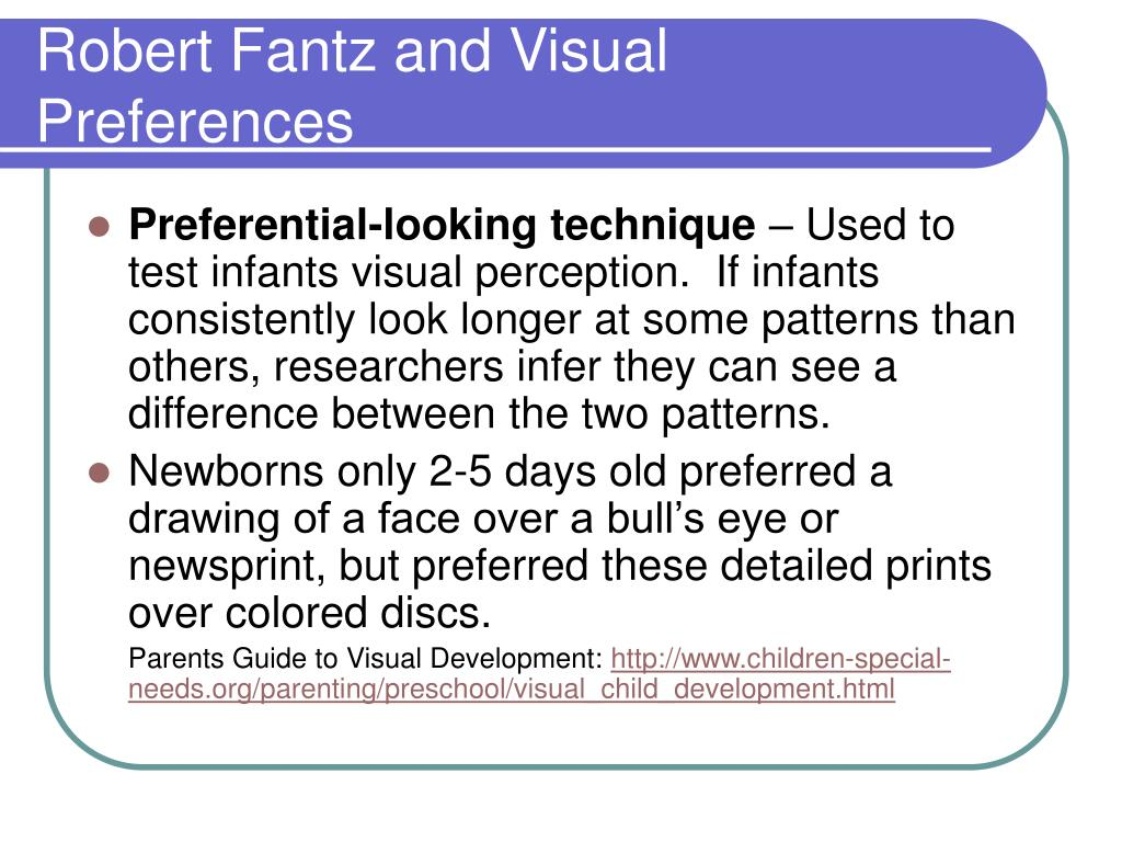 Robert Fantz and Visual Preferences
