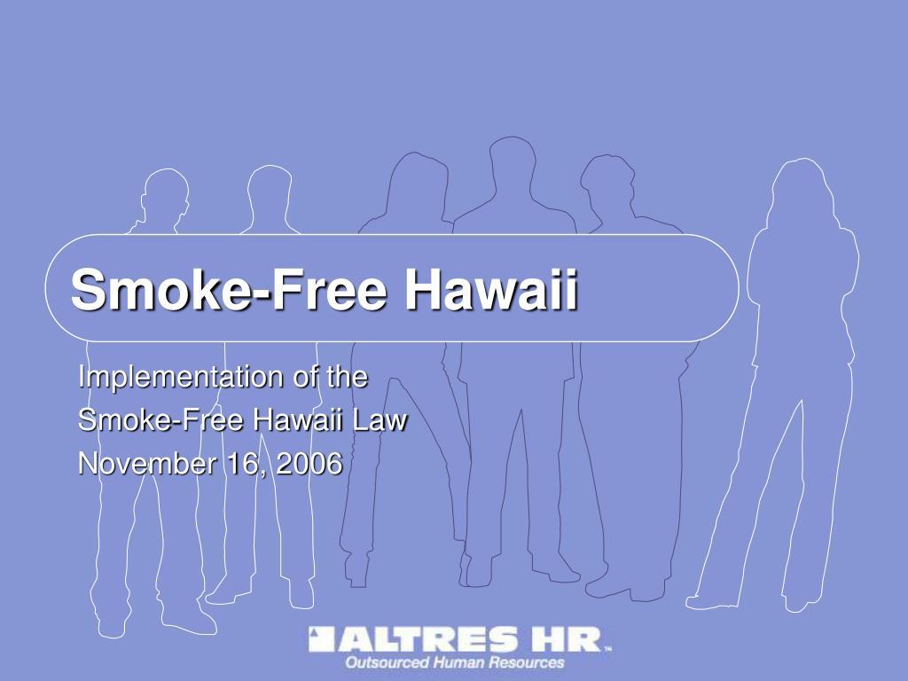 smoke free hawaii