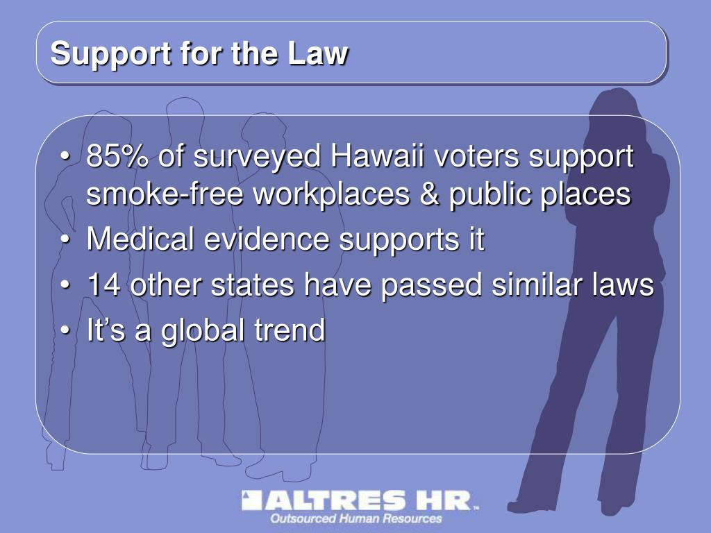 Support for the Law