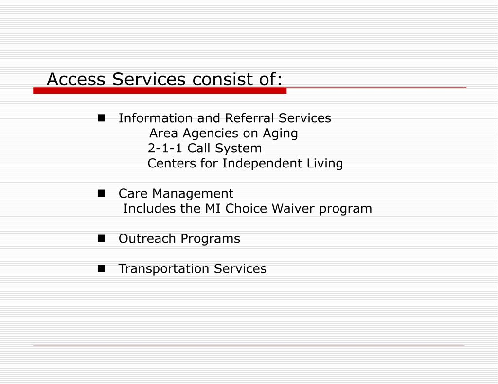 Access Services consist