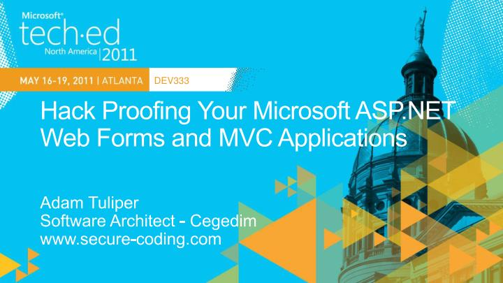 hack proofing your microsoft asp net web forms and mvc applications