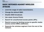 basic defenses against wireless attacks