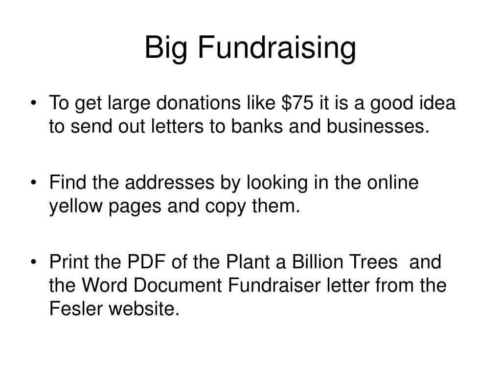 Big Fundraising
