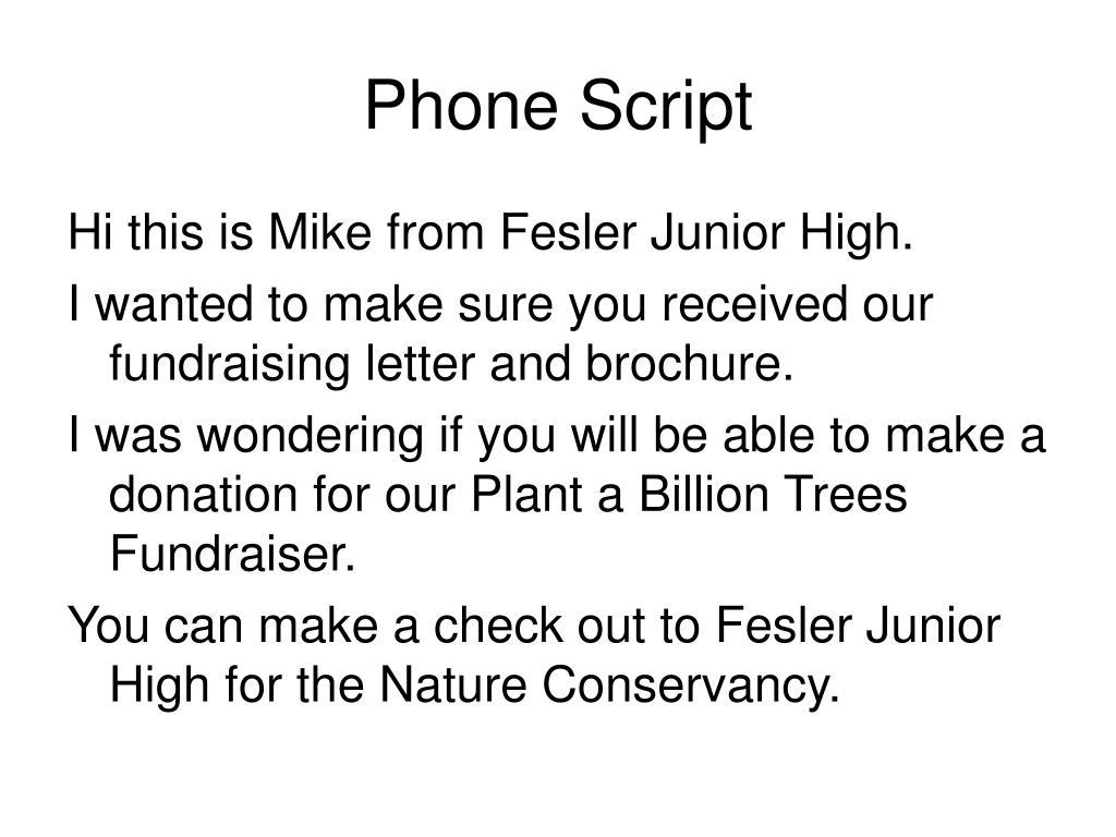 Phone Script