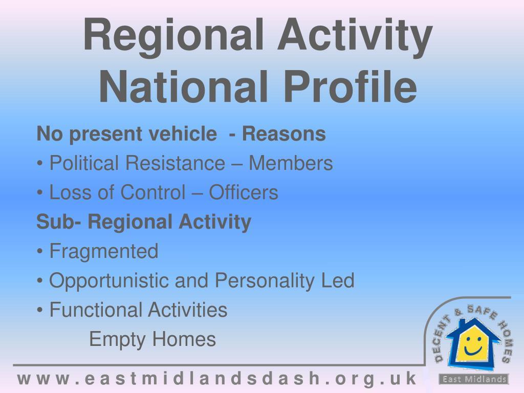 Regional Activity