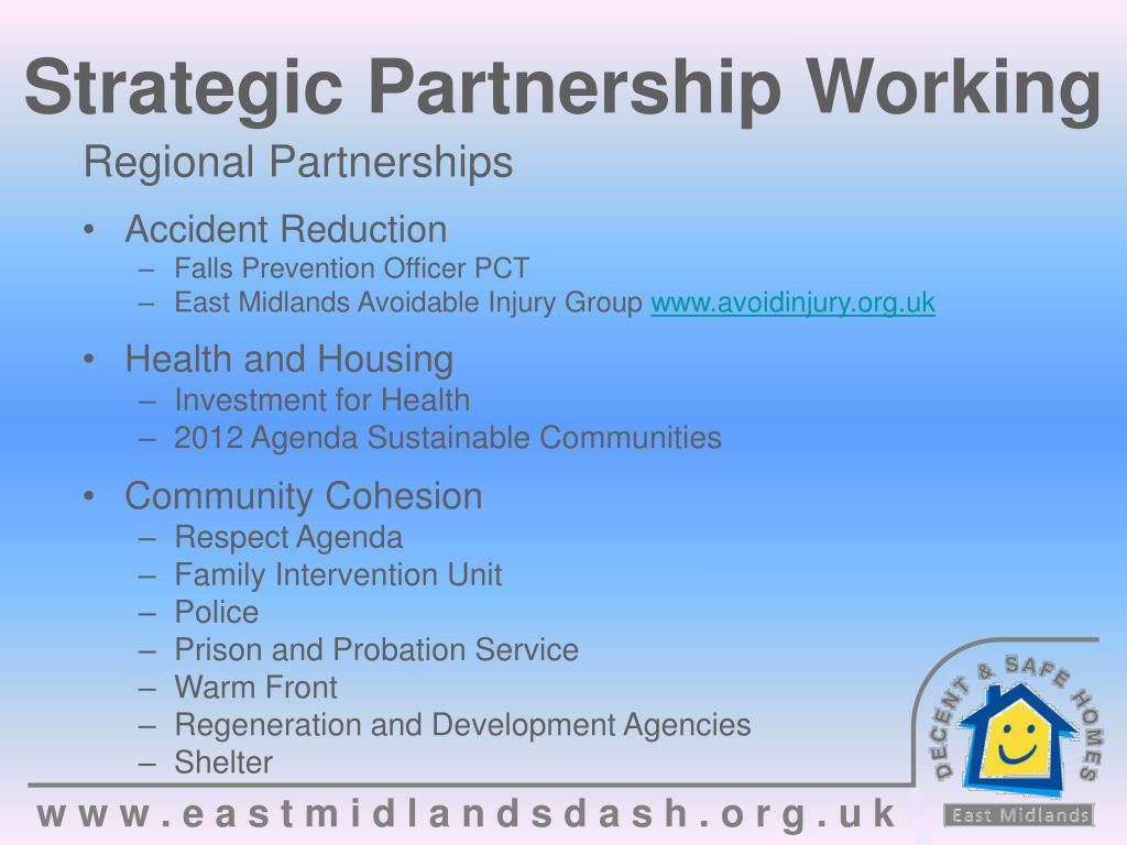 Strategic Partnership Working