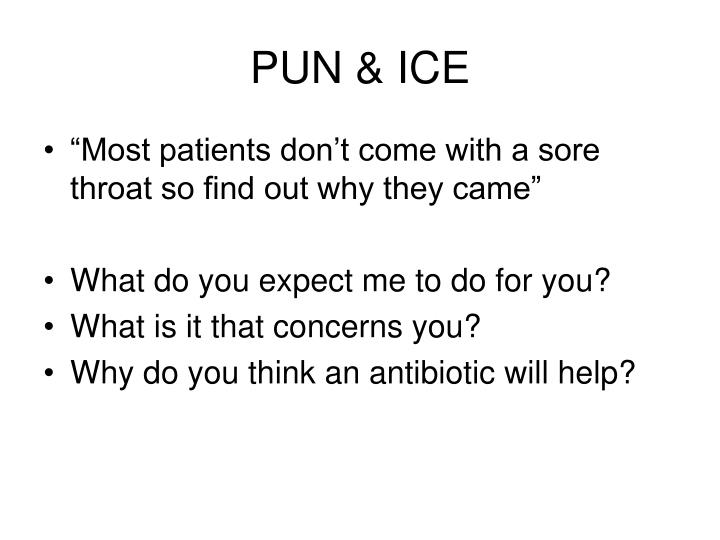 PUN & ICE