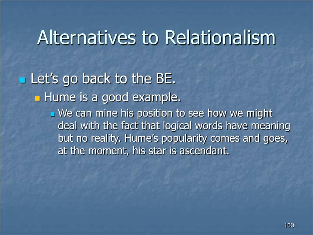Alternatives to Relationalism