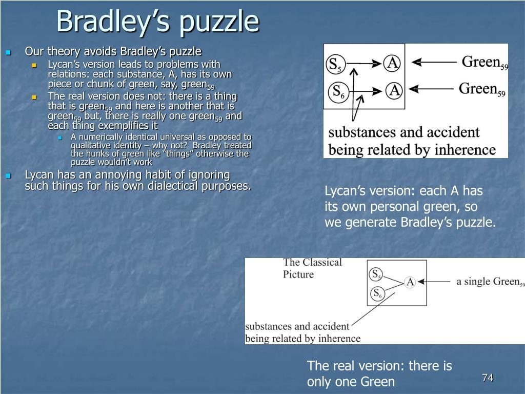 Bradley's puzzle