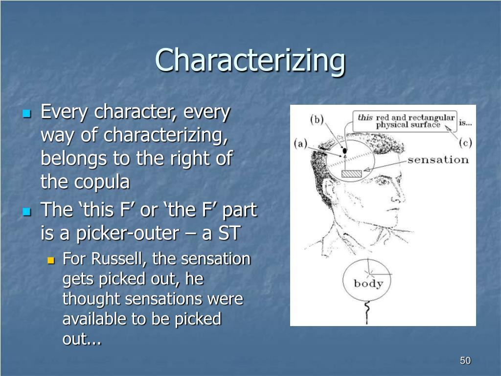 Characterizing