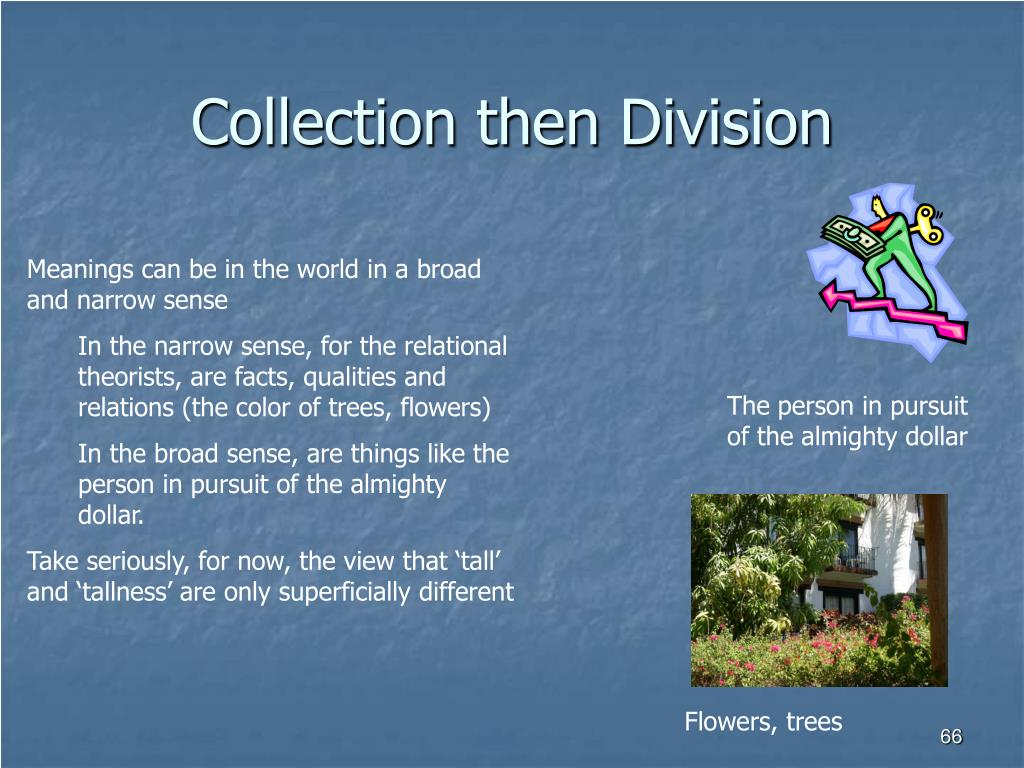 Collection then Division