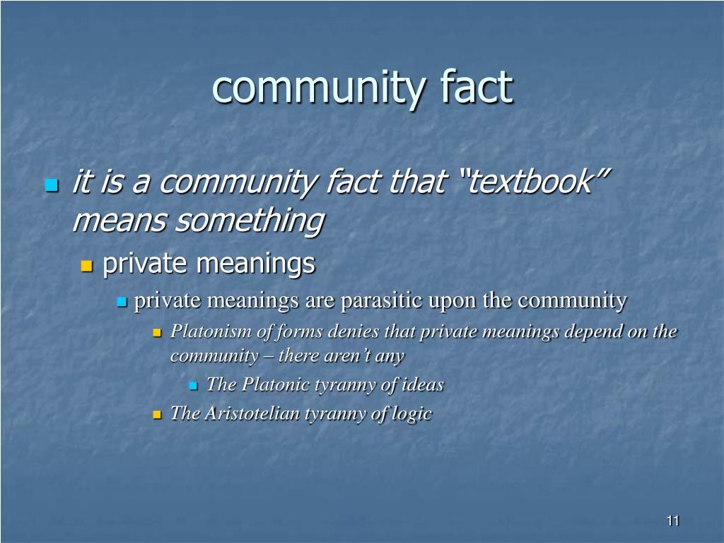 community fact
