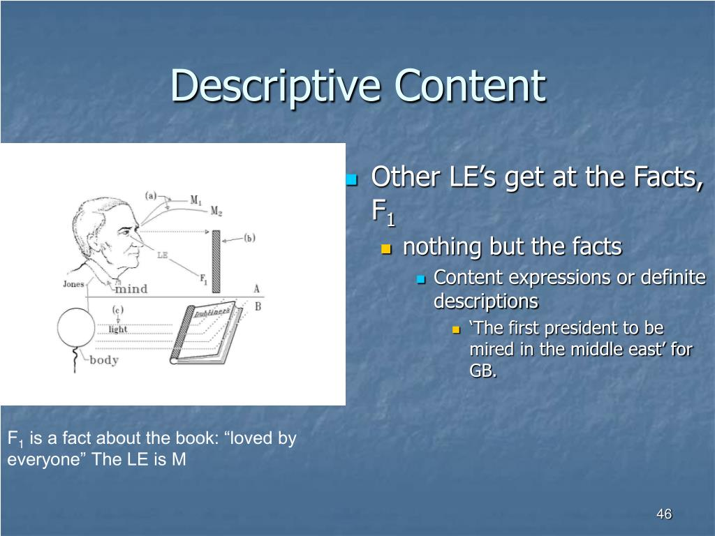 Descriptive Content