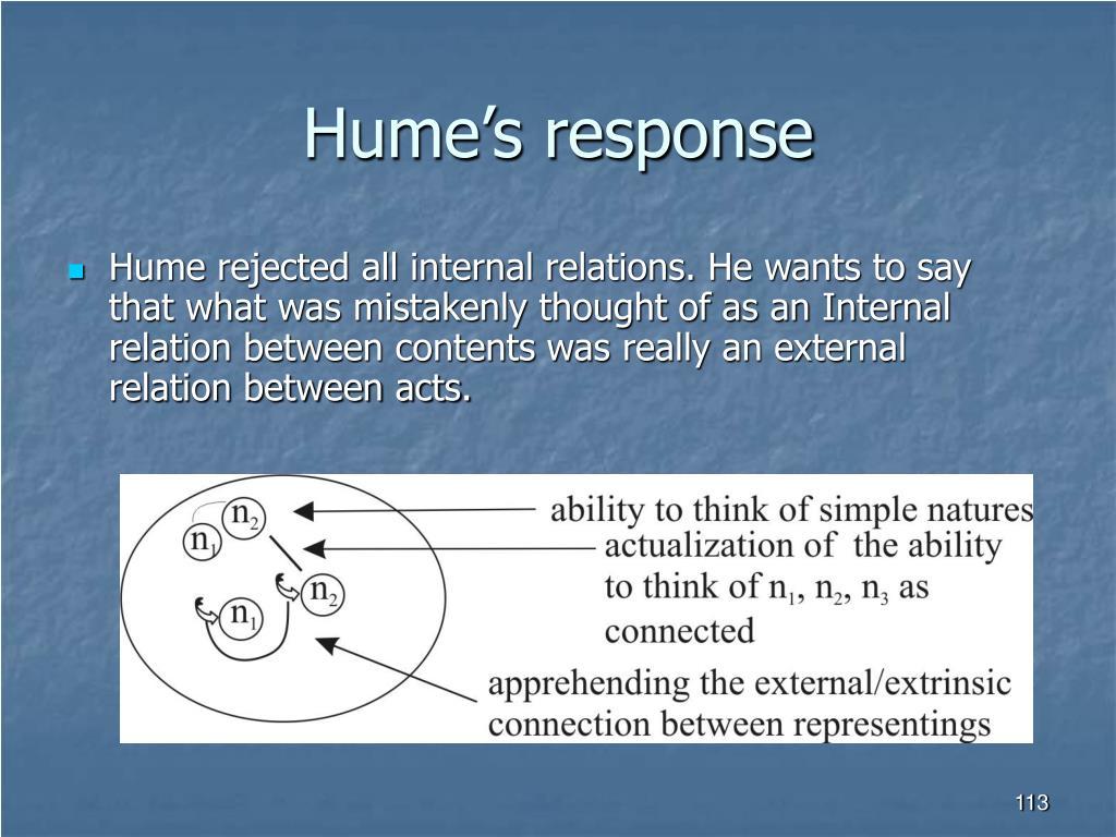 Hume's response
