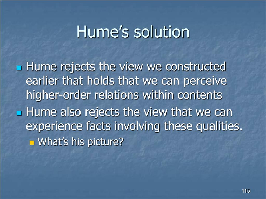 Hume's solution
