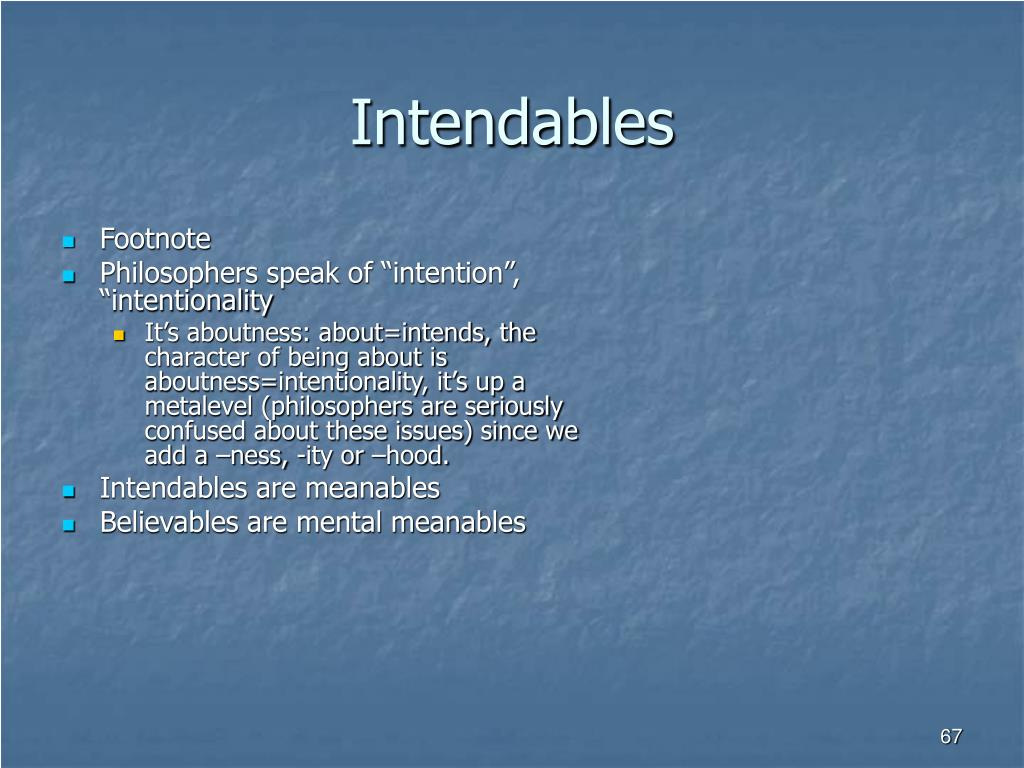 Intendables