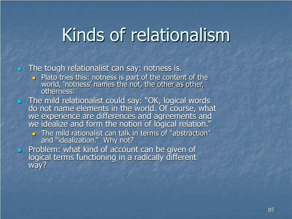 Kinds of relationalism