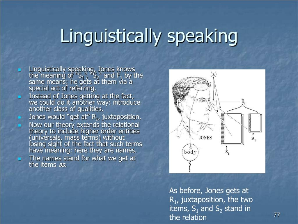 Linguistically speaking