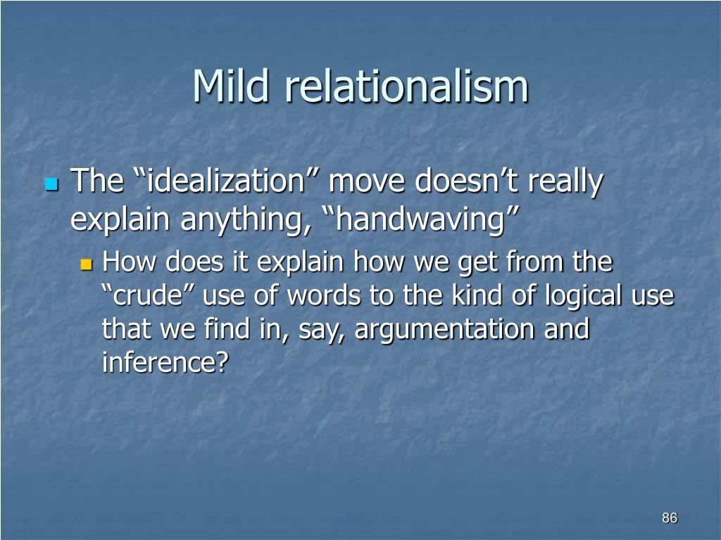 Mild relationalism