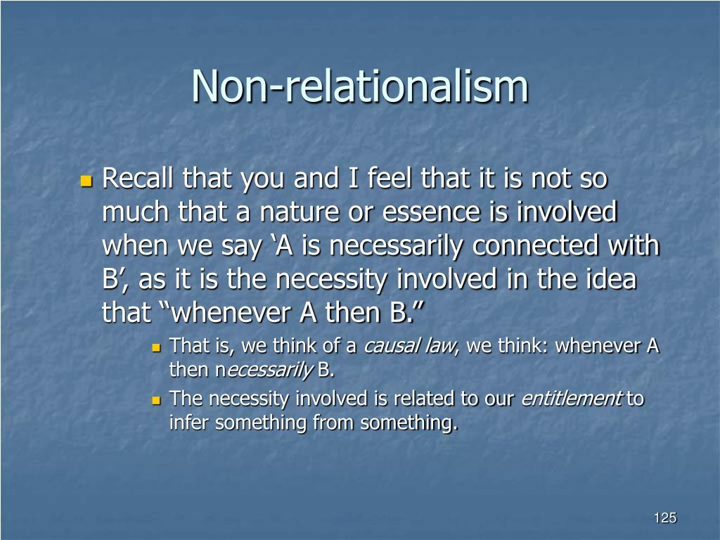 Non-relationalism