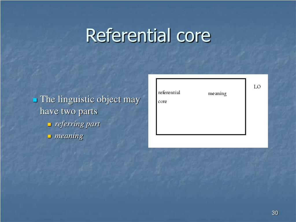Referential core