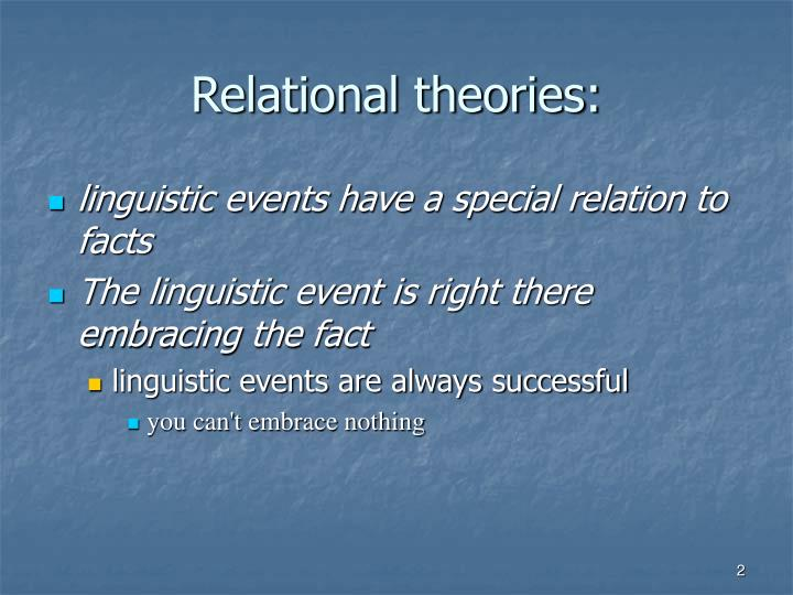 Relational theories