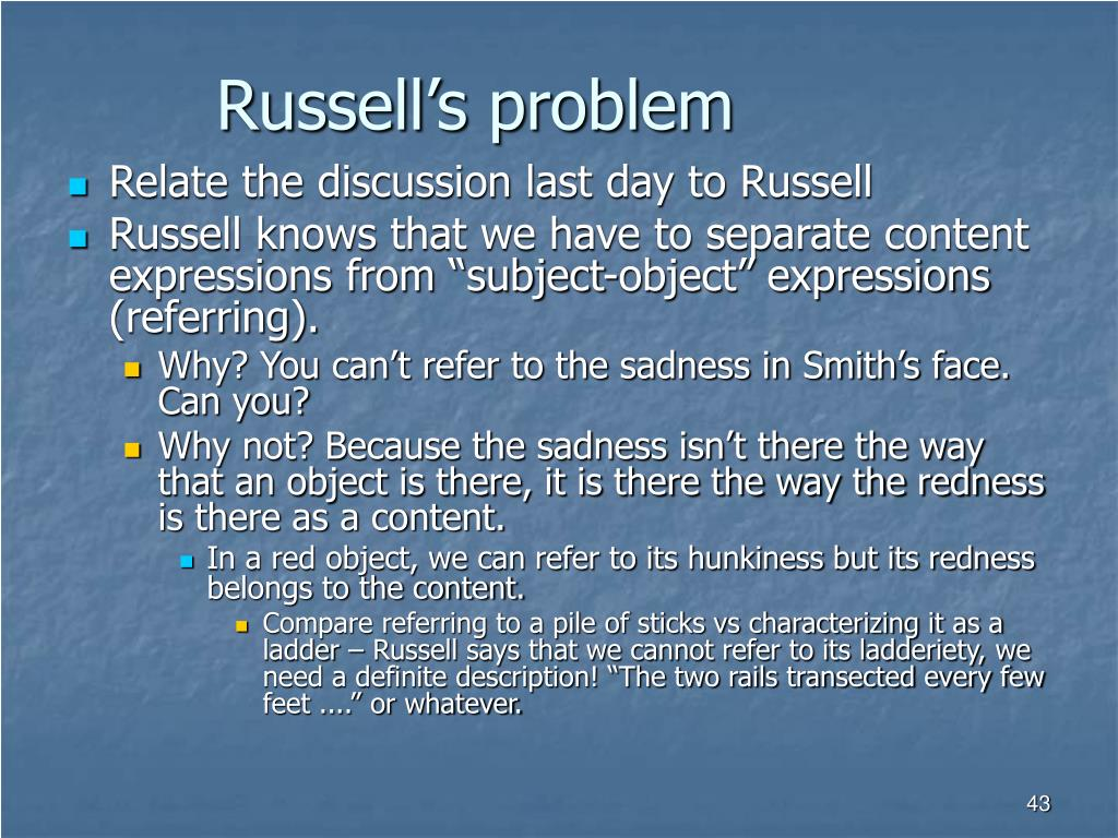 Russell's problem