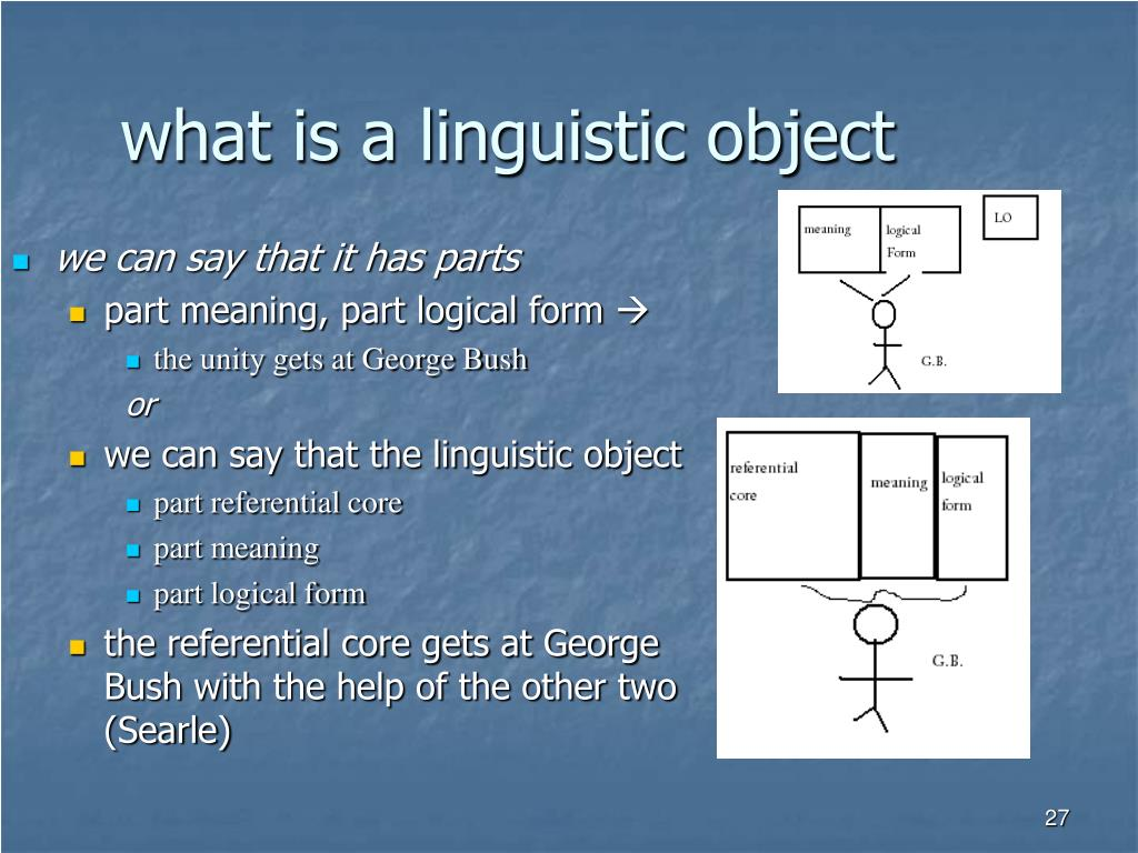 what is a linguistic object
