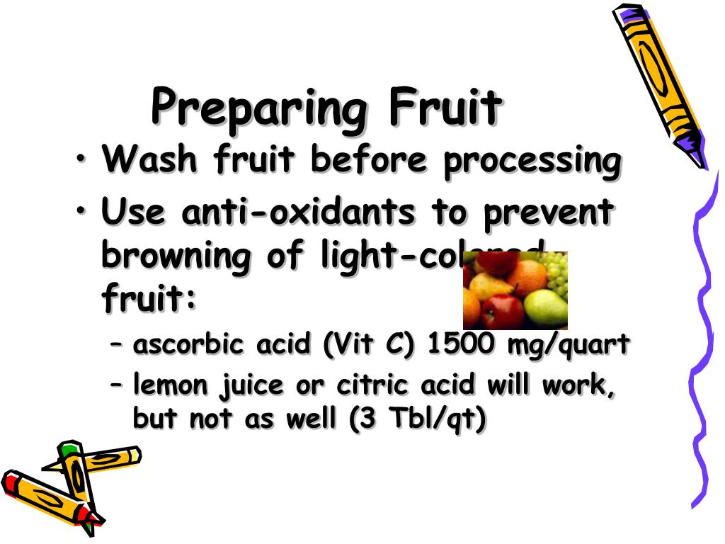 Preparing Fruit