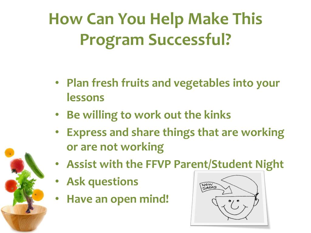 How Can You Help Make This Program Successful?