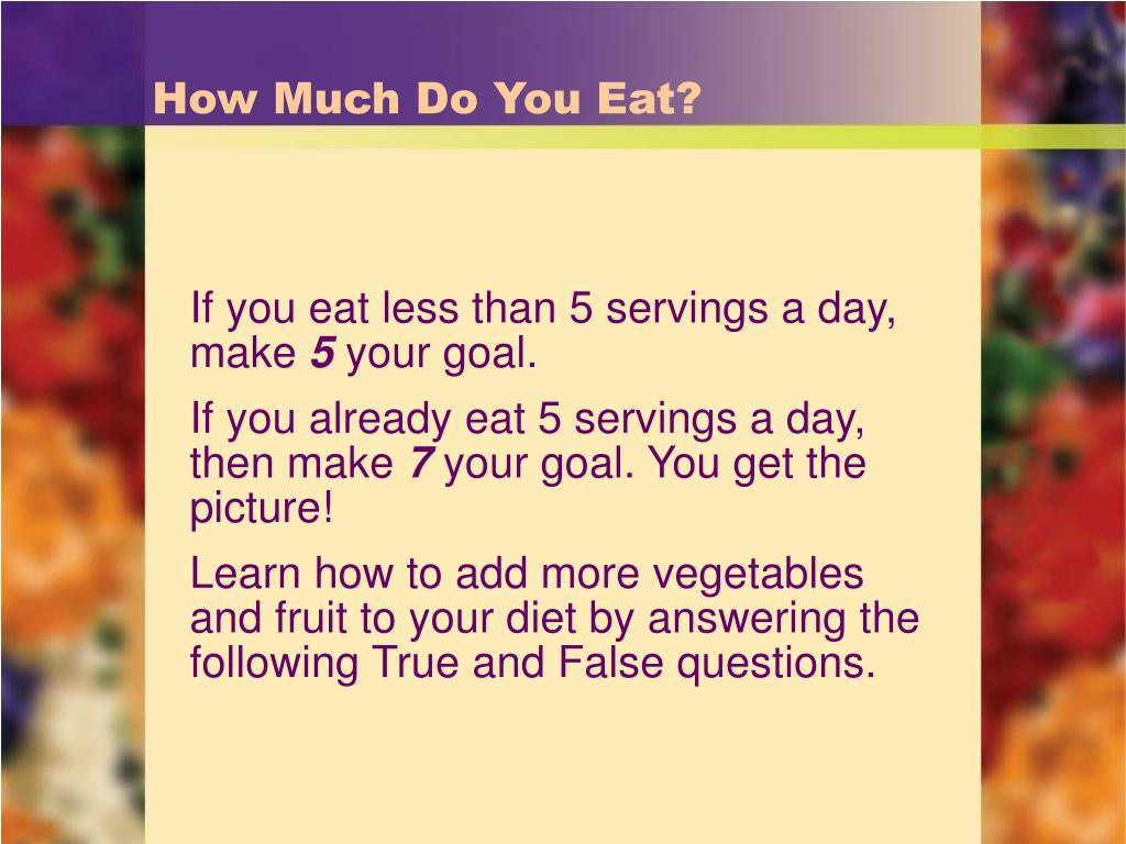 How Much Do You Eat?