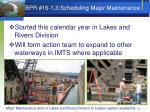 bpr 16 1 3 scheduling major maintenance